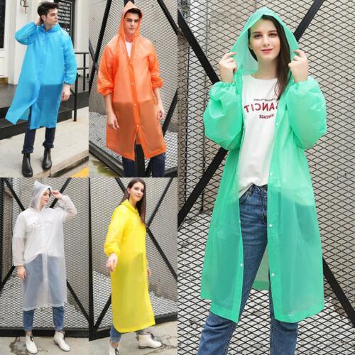 US Men Waterproof Jacket Hooded Raincoat Rainwear
