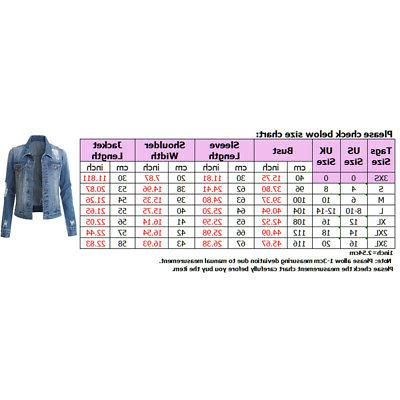 US Women Denim Jacket Long