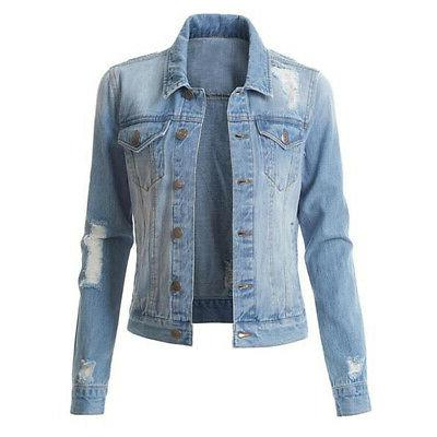 US Jacket Long Button Jeans