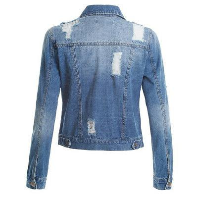 US Denim Jacket Long Button Jeans