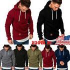 USA Men's Warm Slim Hoodie Hooded Winter Sweatshirt Coat Jac