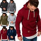 USA Mens Long Sleeve Hoodies Sweatshirt Hoodie Jacket Pullov