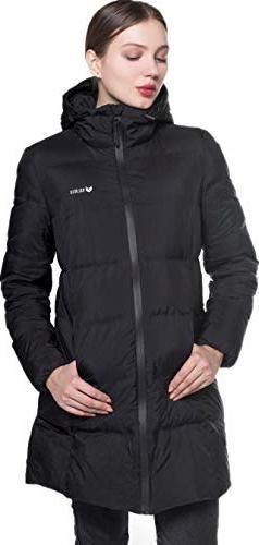 Beinia Valuker Women's Seamless Hooded Down Coat Jacket Plus