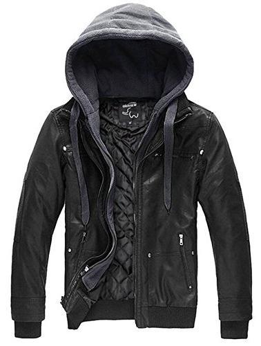 vintage leather winter jacket