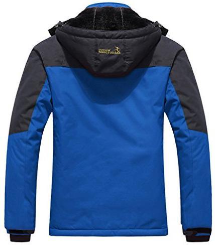 WantDo Men's Waterproof Jacket Fleece Windproof Ski Jacket