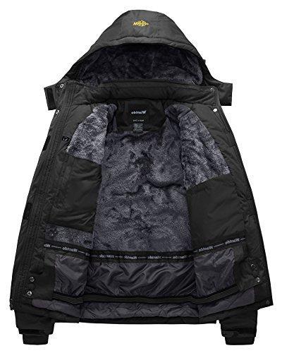 Wantdo Men's Waterproof Jacket Windproof Jacket US L Black L
