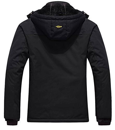 Wantdo Men's Jacket Fleece Jacket Black L