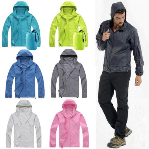 Waterproof Windproof Jacket Men Women Lightweight Rain Coat