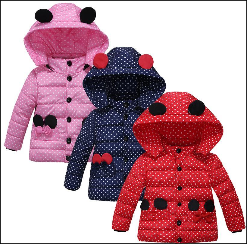 Winter Coat Baby Girls Jacket Kids Winter Warm Outerwear Chi
