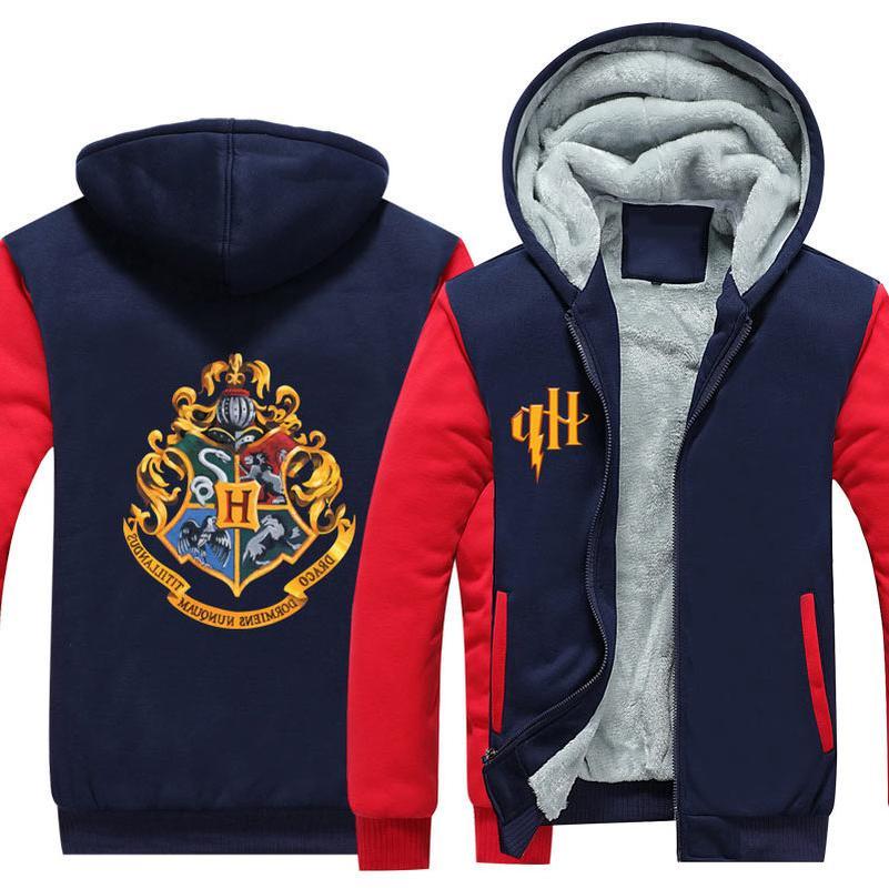Wizardry Hogwarts Cosplay Sweatshirt Streetwear Size Fleece Parka Casual