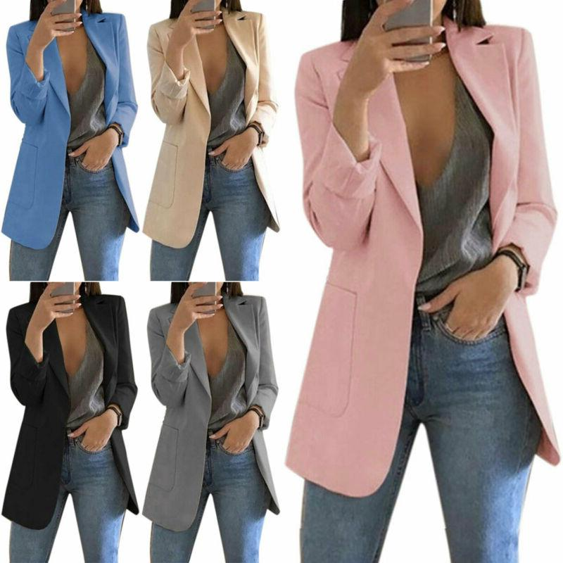 Women Lapel Suit Outwear