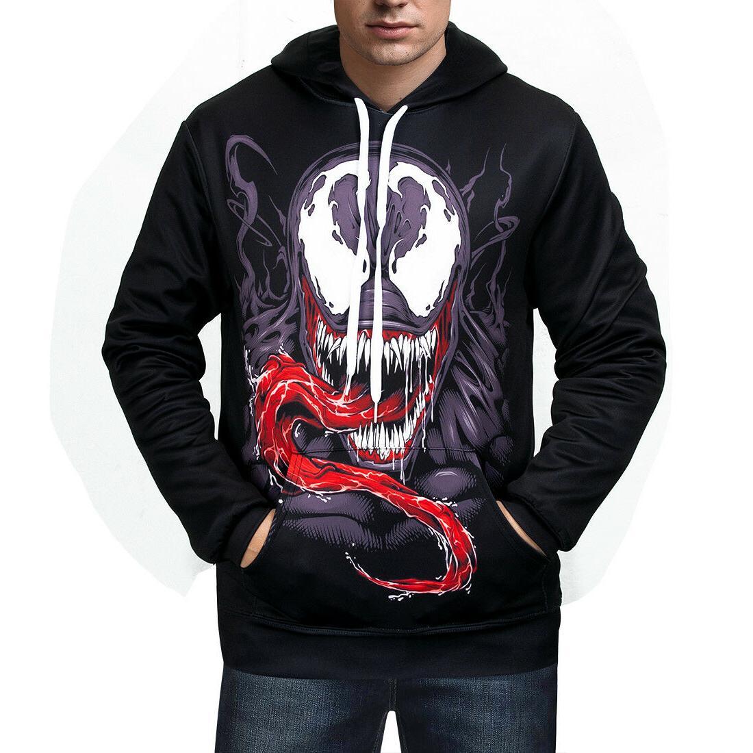 Women/Men UFC Hoodies Print Marvel Venom Sweater Jacket