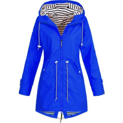 Women Jacket Waterproof Wind Jacket Solid Forest