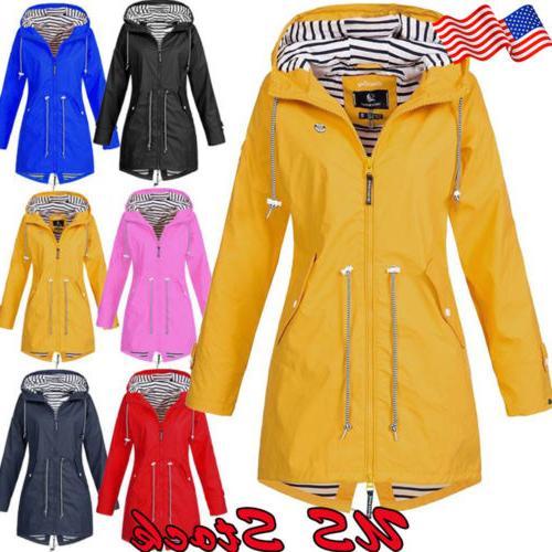 women outdoor jacket waterproof wind jacket solid
