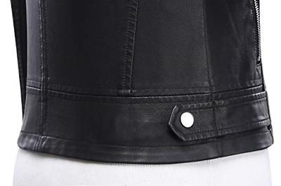 Tanming Motorcycle PU Leather Jacket Coat