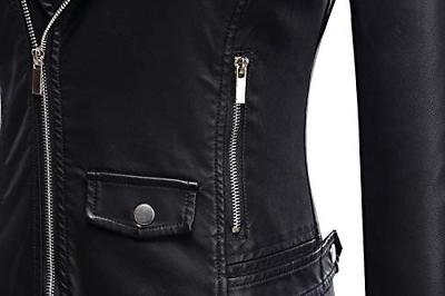 Tanming Women's Motorcycle Jacket Coat