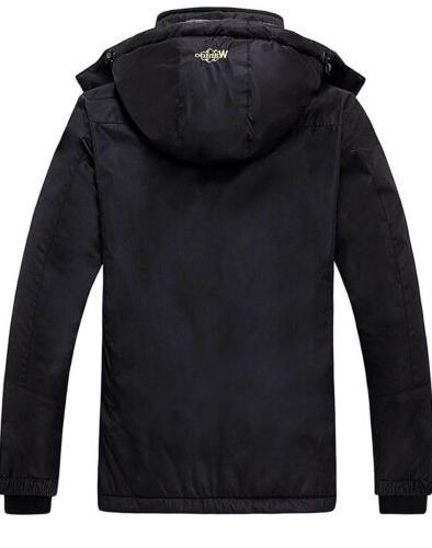 Wantdo Windproof Ski Jacket, Black,