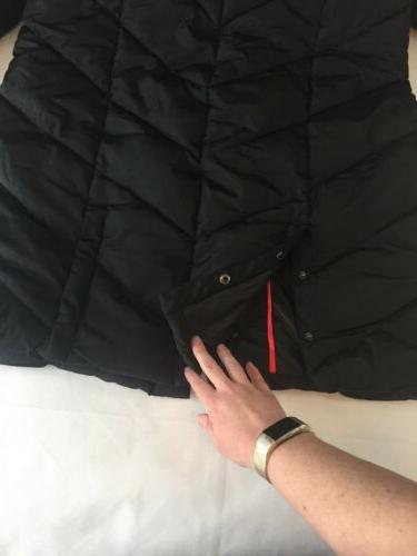 Steve Madden Women's Large Long Puffer Coat Jacket