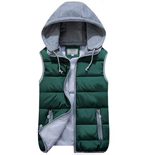 women s quilted padded puffer vest gilet