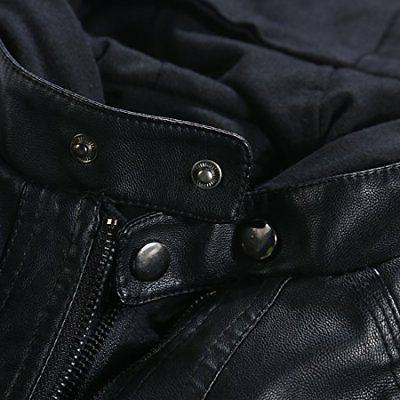 Tanming Women's Faux Leather X-Large Black
