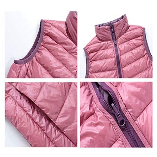 EBRICKON Women's Collar Full Zip Reversible Warm Duble-Sided Winter Outwear Down Vest