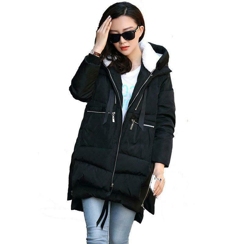 women s thickened down jacket black 2x