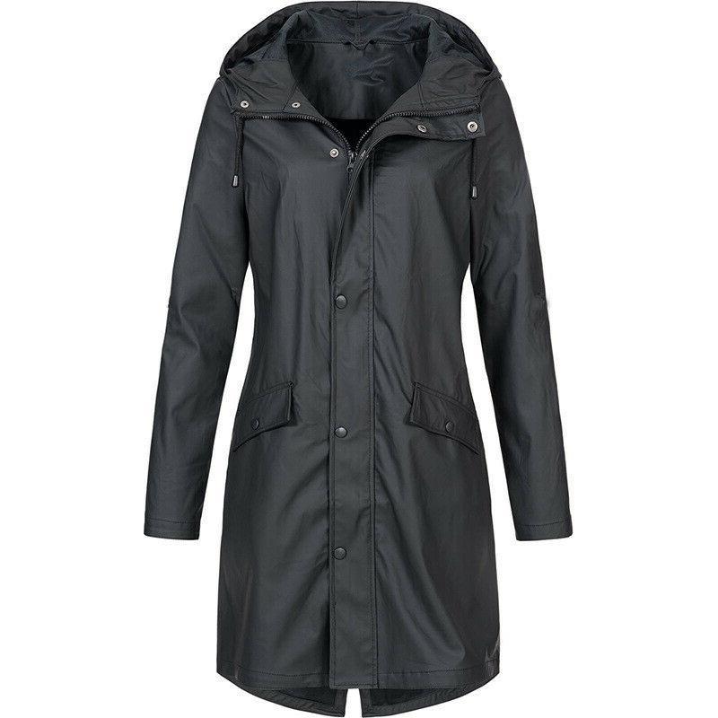 Women's Waterproof Lightweight Rain Jacket Packable