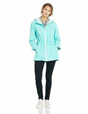 Amazon Women's Rain Jacket Aqua X-Large New