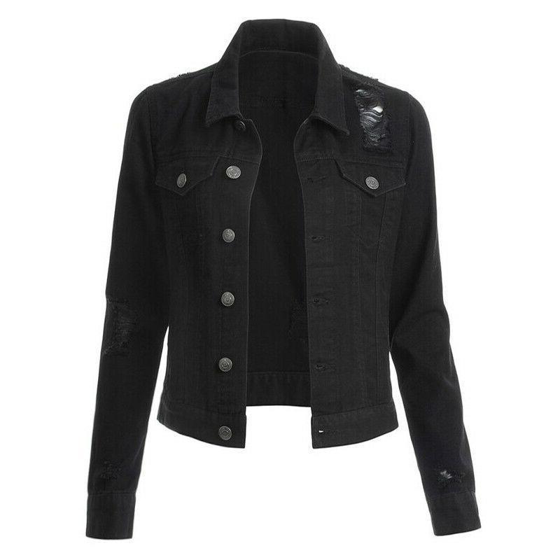 Womens Jackets Long Sleeve Button Collar Tops