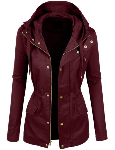 LE3NO Womens Lightweight Cotton Military Anorak Jacket with