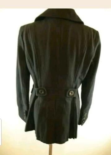 Womens sz International Peacoat Wool Long Jacket Military