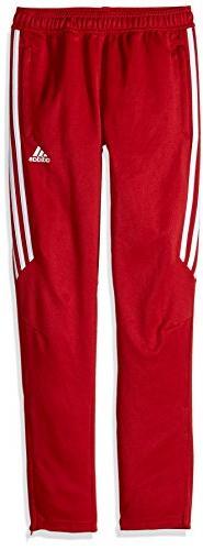 adidas Youth Soccer Tiro 17 Pants, X-Large - Power Red/White