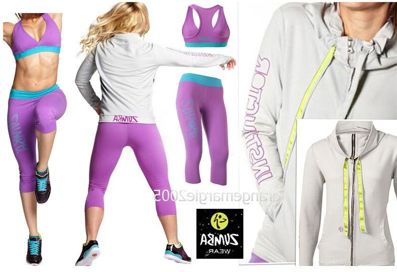 ZUMBA 3Pc.SET! INSTRUCTOR Jersey Cardigan Jumper Jacket +Cap