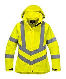 ladies hivis breathable jacket viz
