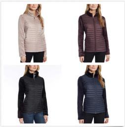 32 Degrees Ladies' Mixed Media Plush Faux Fur Down Jacket -