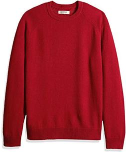 Goodthreads Men's Lambswool Crewneck Sweater, red, X-Large