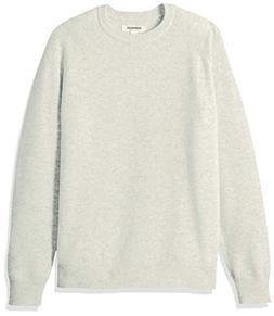 Goodthreads Men's Lambswool Crewneck Sweater, Light Grey, La