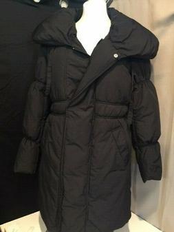 Lark & Ro Women's Black Jacket  Size Large Puffer Pillow Col