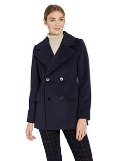 Lark & Ro Women's Double Breasted Peacoat, navy, 16