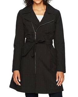 Lark & Ro Women's Jacket Black Size Large L Asymmetrical-Zip