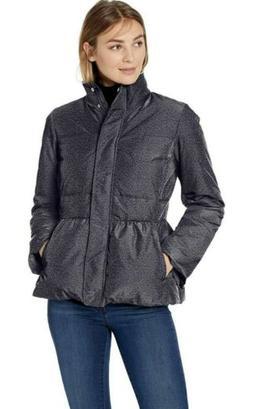 Lark & Ro Women's Peplum Puffer Jacket