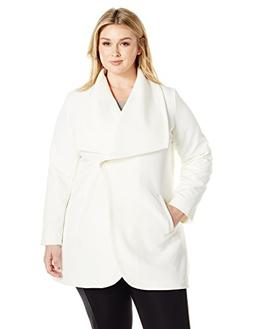Lark & Ro Women's Plus Size Single Button Jacket, Ivory, 3X