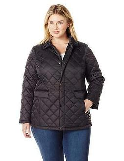 Lark & Ro Women's Plus Size Quilted Barn Jacket