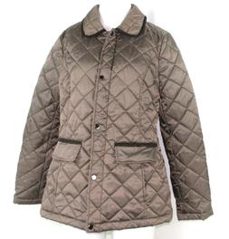 Lark & Ro Women's Quilted Barn Jacket, Olive Green, Small