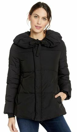 Lark & Ro Women's Short Shawl Pillow Collar Puffer Jacket Pr
