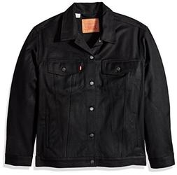 Levi's Men's Big and Tall Trucker Jacket, Polished Black, 2X