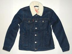 Levi's Women's Sherpa Trucker Jacket Levis Blue Harbor All s