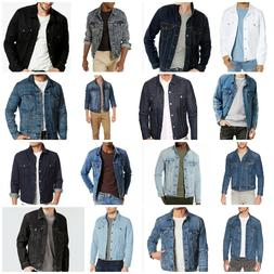 Levis Jackets Men's Denim Trucker Jacket Blue Gray White Bla