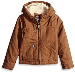 Dickies Little Boys' Sherpa Lined Duck Jacket, Timber, Mediu
