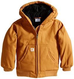 Carhartt Little Boys' Toddler Active Jacket, Carhartt Brown,